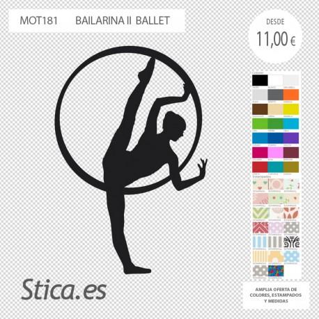 adhesivo decorativo bailarina ballet en venta