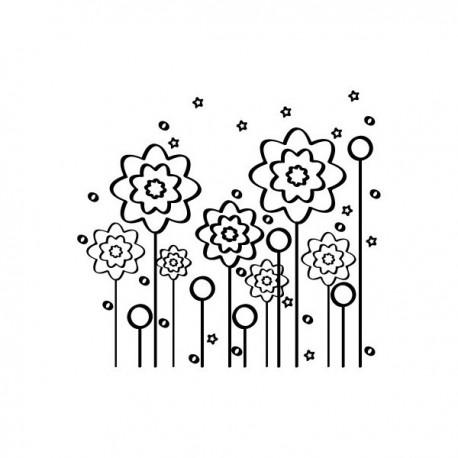 pegatina decorativa Vinilo Translúcido Flores Silvestres