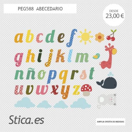adhesivo decorativo abecedario