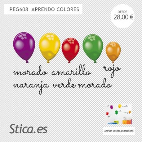 adhesivo decorativo globos infantiles