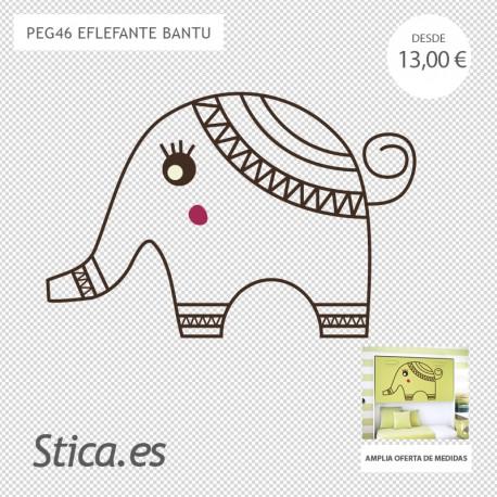 adhesivo decorativo elefante bambu