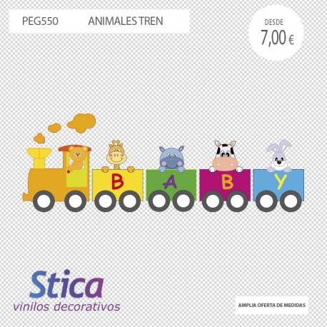 vinilo infantil tren en venta