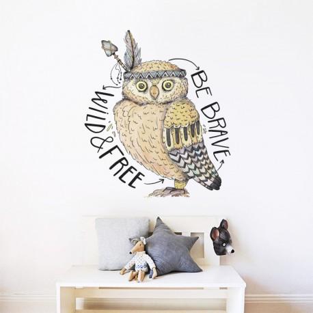 pegatina decorativa búho boho