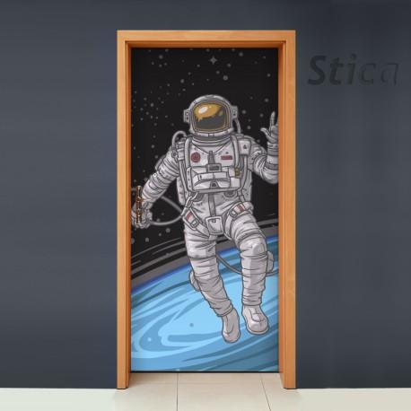 vinilo para puerta astronauta