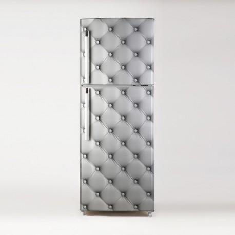 pegatina para frigo motivo acolchado blanco