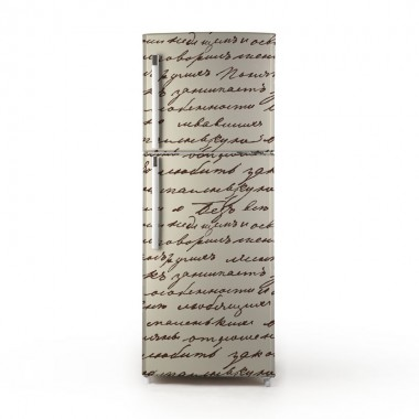 pegatina frigo manuscrito
