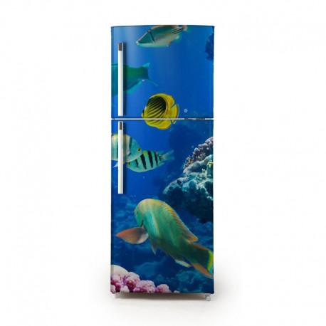 Pegatina frigo acuario