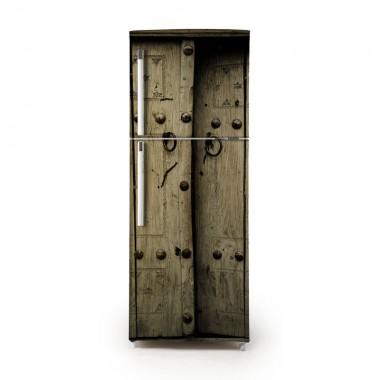 Pegatina frigo puerta rústica