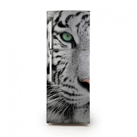 Pegatina frigo tigre blanco