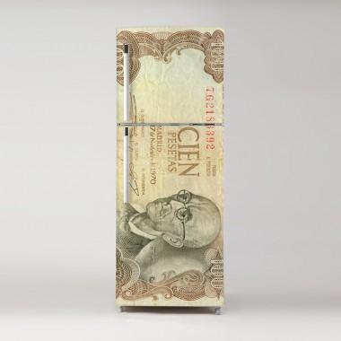 Pegatina frigo pesetas billete