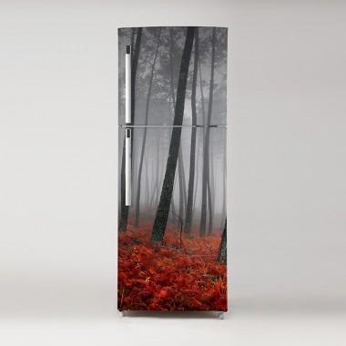 Pegatina frigo bosque