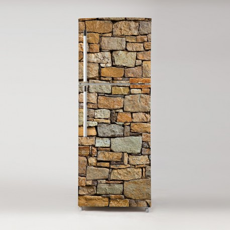 Pegatina frigo piedras rústicas