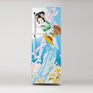 Vinilo Pegatina frigo geisha