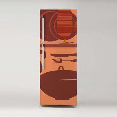 Vinilo frigo cocina útiles