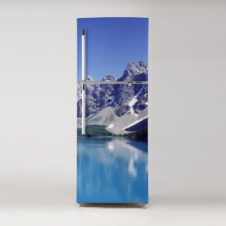 Vinilo frigo paisaje alpes