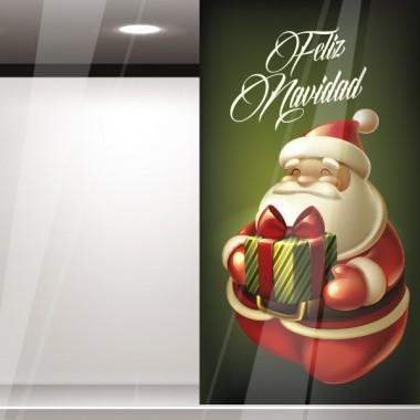 Vinilo escparate Papa Noel