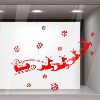 Escaparate Papa Noel trineo