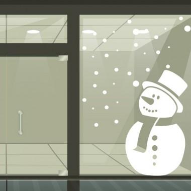 Escaparate  muñeco de nieve