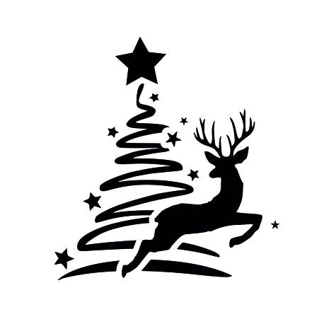 Vinilo navidad árbol reno