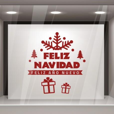 escaparate navidad feliz copo