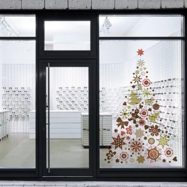 Árbol navidad para escaparate transparente