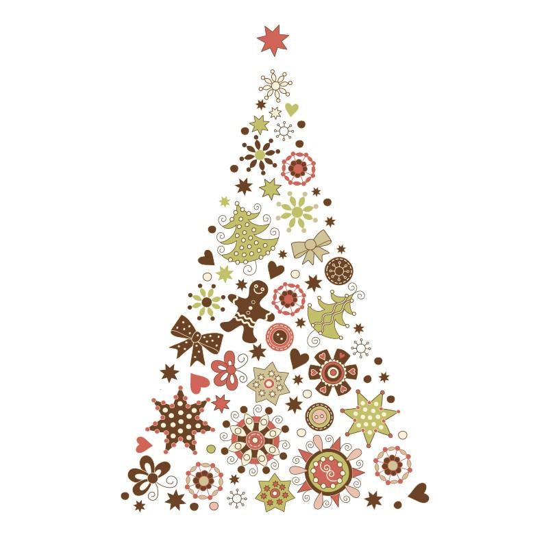 Vinilos decoraci n navide a - O arbol de navidad ...