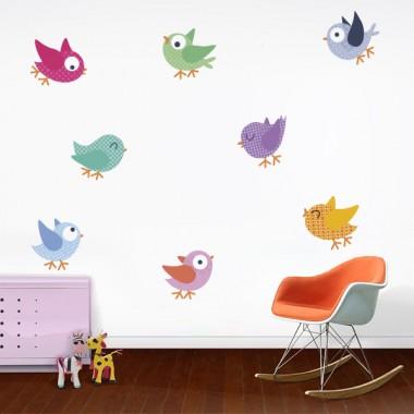 vinilo infantil pájaros grupo