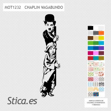 Pegatina pared Chaplin