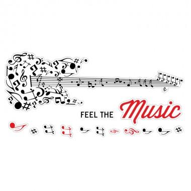Pegatina decorativa música guitarra