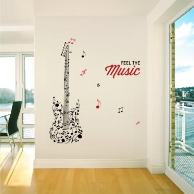 Vinilos pared m sica stica vinilos decorativos for Vinilos decorativos sobre musica