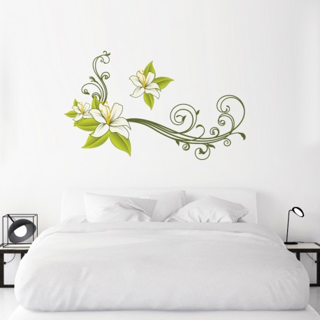 Pegatina decorativa orquidea