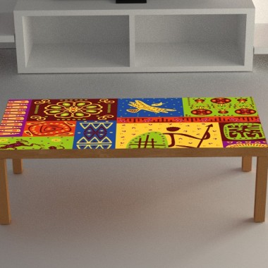 adhesivo decorativo mesa tribal