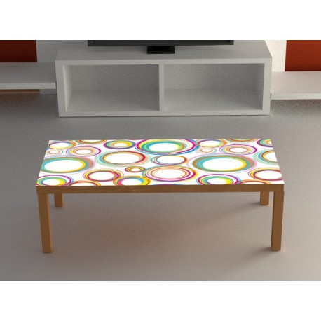 Pegatina para mesa estampado circular