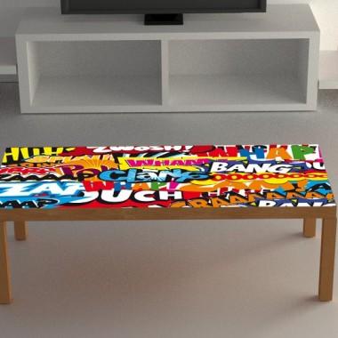 Adhesivo mesa sonidos comic