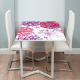 Adhesivo mesa estampado floral rosa