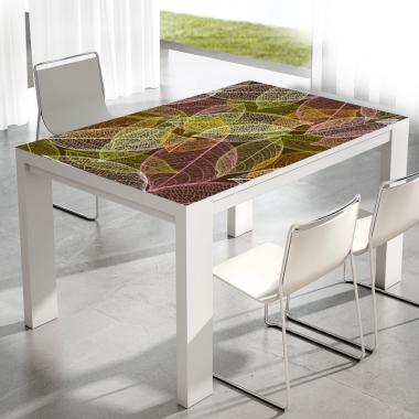Adhesivo para mesa estampado decorativo hojas