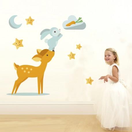 Vinilo infantil troquelado bambi
