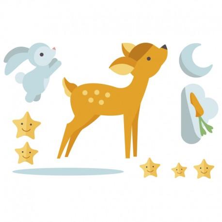 Pegatina decorativa bambi