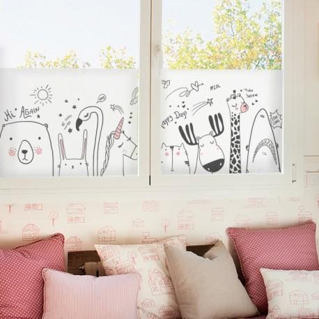 Vinilo Translúcido dibujo infantil animales