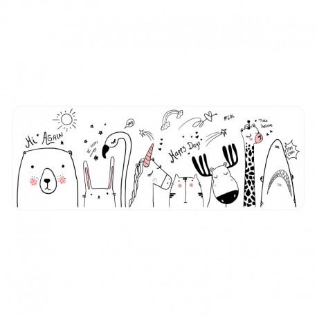 Vinilo infantil transparente animales dibujo