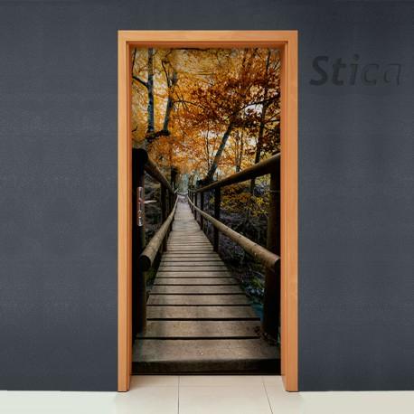 Puente de madera para puerta