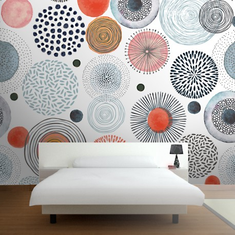 Fotomural dormitorio Mandalas
