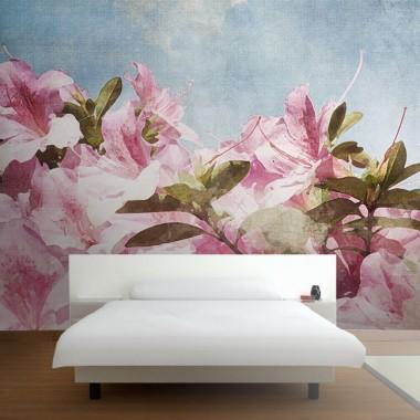 Fotomural dormitorio jrosa floral Provenza