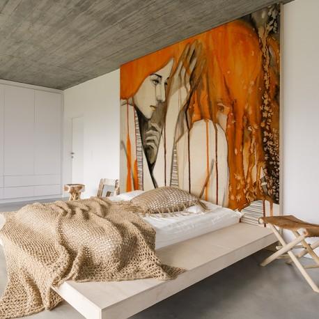 Fotomural dormitorio en femenino