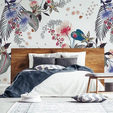 Fotomural dormitorio Floral Mónaco