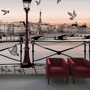 Fotomural a medida París puente