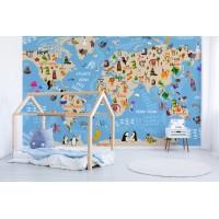 Fotomural infantil Mapa Mundo