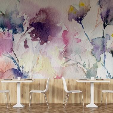Fotomural restaurante Floral Acuarela