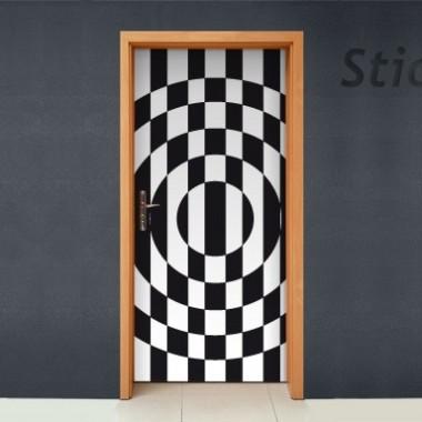 Vinilo Geométrico vintage puerta-vinilos-decorativos