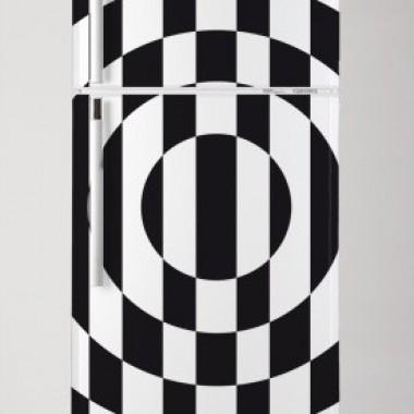 Vinilo Geométrico vintage para frigo-vinilos-decorativos